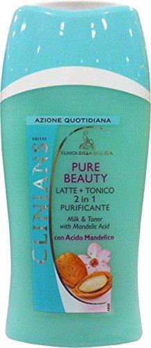 CLINIANS Pure Beauty Viso Latte&Tonico Con Acido Mandelico 200 ML