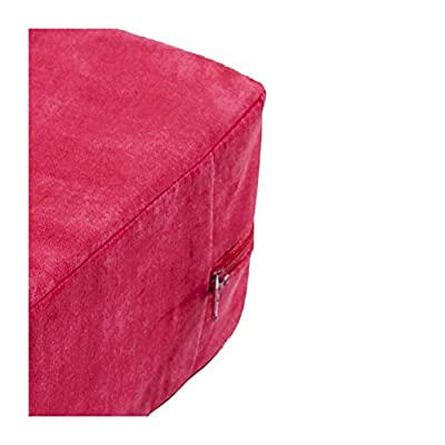 Kissen, Sitzblock Bodenkissen, Stuhlkissen ,Sitzkissen, Gr: ca. 38x38x10 cm, rot von Schwar Textilien - Gartenmöbel von Du und Dein Garten