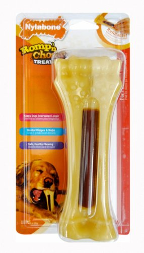 Picture Nylabone Romp 'N Chomp Souper Treat Holder Chew with Treat for Dogs Over 50-Pound