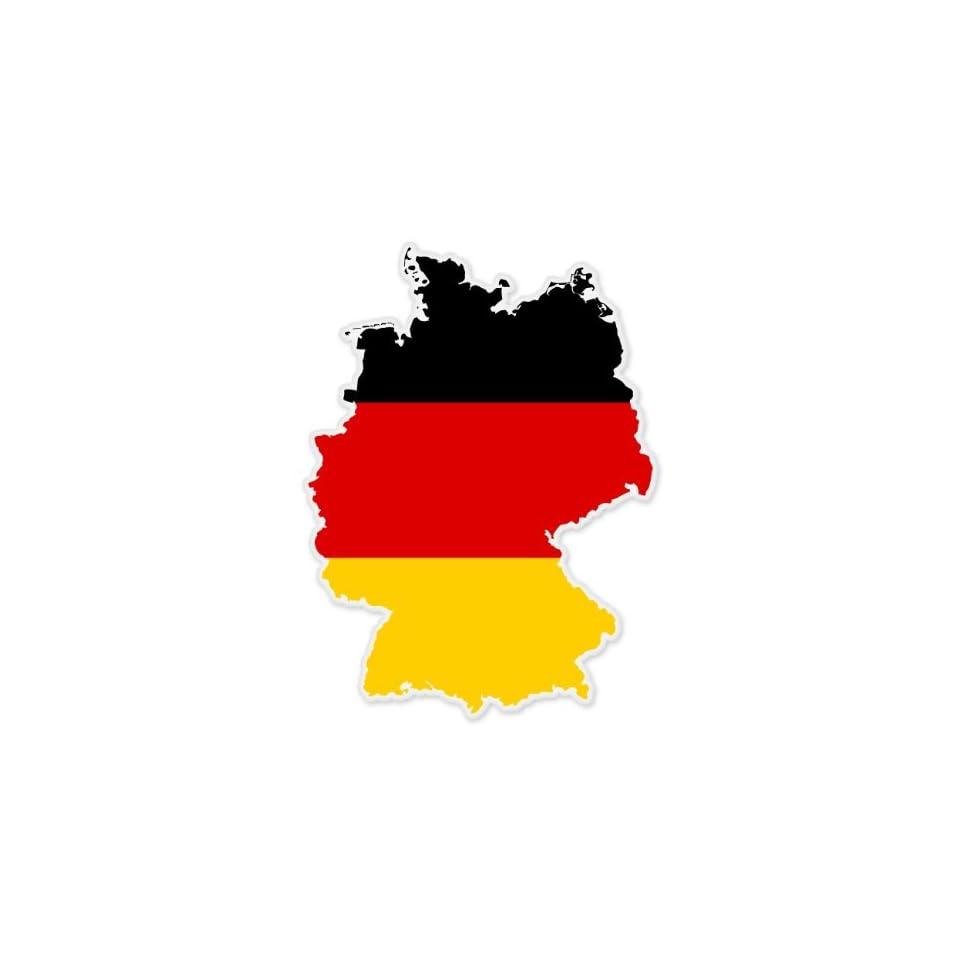 Germany Map Flag car bumper sticker decal 5 x 4