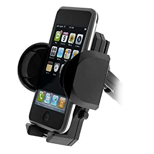Unviersal Car Windshield Mount Holder for Htc 8525, 8125, Wing, Dash, Mda, Ppc-6800, Blackberry 8300 Curve, 8100 Pearl, 8800, 8830, Palm Treo 680, 750, 700w, Nokia N95, N75, N80, Lg Vx8500, Vx9900, Vx8350, Vx8600, Cu575, Audiovox, Motorola, Samsung, Sanyo, All Hp Ipaq, Nextel, Sony Ericsson W810, W580i, Sidekick, Apple Ipod Touch, Classic, Video, Iphone, Creative Zen, Microsoft Zune, Sandisk Sansa, Gps, PSP