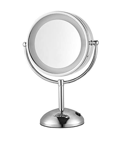 Nameek's Glimmer Double Face Round 3X Makeup Mirror, Chrome