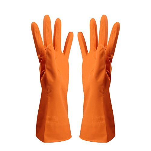Durable High Stretchability Dishwashing Nitrile Gloves for Car-washing Laundry Household Cleaning