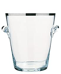 Peugeot PW220075 Glass Champagne Bucket, Platinum Band Finish