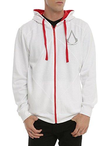 Assassin's Creed White Zip Hoodie 2XL