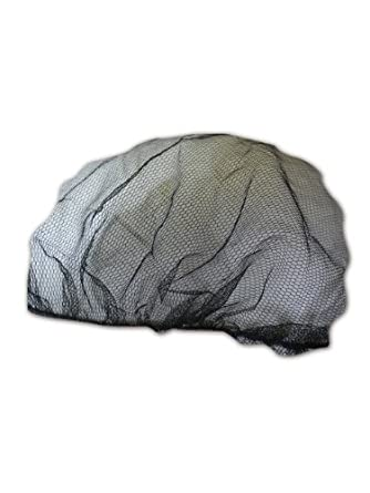 "Keystone 2020BK Black Adjustable Cap Co Lightweight Nylon Mesh Disposable Hairnet, 20"" Diameter (Case of 1000)"