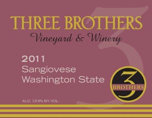 2011 Three Brothers Vineyard & Winery Rattlesnake Hills Sangiovese 750 Ml