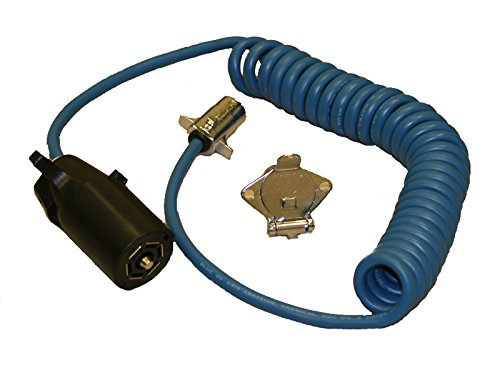 Blue Ox BX88254 7-Wire to 4-Wire Coiled Electrical Cable (Trailer Electrical Accessories compare prices)