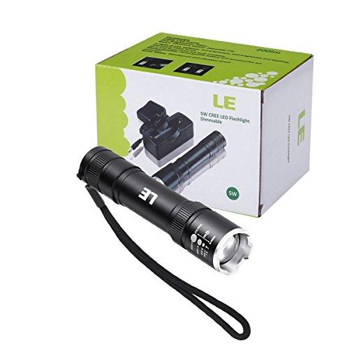 le torcia led cree da 5w ricaricabile brillante fuoco regolabile 200lm una batteria