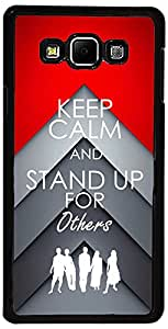 PrintVisa Case Covers for Samsung Galaxy A5 (D8063 Quotes Stand Up)