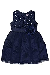 Chalk by Pantaloons Girl's Skater Dress ( 205000005606799, Blue, 4-5 Years)