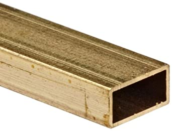 Brass C260 Hollow Rectangular Bar