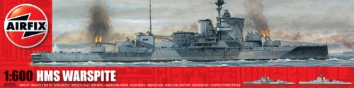 Airfix A04205 1:600 Scale HMS Warspite Warship Classic Kit Series 4