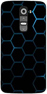 Snoogg Honeycomb Systemology Designer Protective Back Case Cover For LG G2