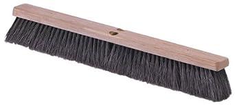 """Carlisle 4505403 Flo-Pac Fine/Medium Floor Sweep, Tampico Bristles, 24"""" Block Size, 3"""" Bristle Trim, Black (Case of 12)"""