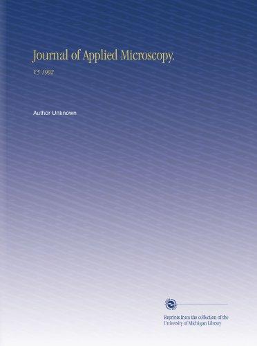Journal Of Applied Microscopy.: V.5 1902