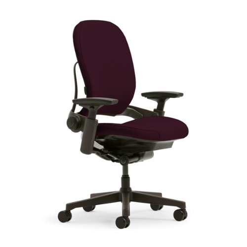 Steelcase Leap Plus Fabric Chair, Burgundy