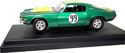 The Dukes of Hazzard 1:18 Cooter's Chevy Camaro Green and Yellow Model Car