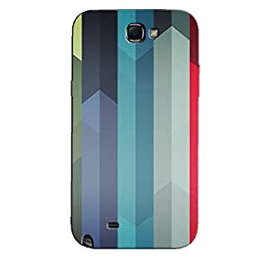 SAMSUNG GALAXY NOTE 2 ABSTRACT STRIPES BACK COVER