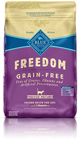 BLUE Buffalo Freedom Grain-Free Indoor Chicken Recipe For Mature Cats (Dry)