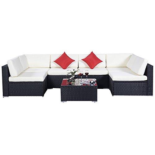 15tlgRattan-Set-Gartenmbel-Lounge-Polyrattan-Sitzgruppe-Rattanmbel-Garnitur-Garten