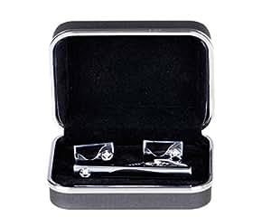 Lodestar Galaxy Gems Boutons de manchette et pince à cravate dans un coffret cadeau: Sand Dunes Gems DE (ACV-02)