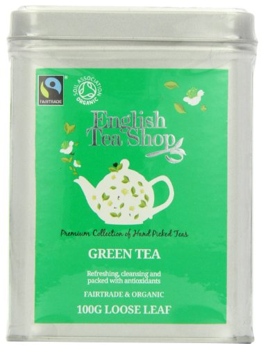English Tea Shop Green Tea Fairtrade and Organic Loose Tea 100 g