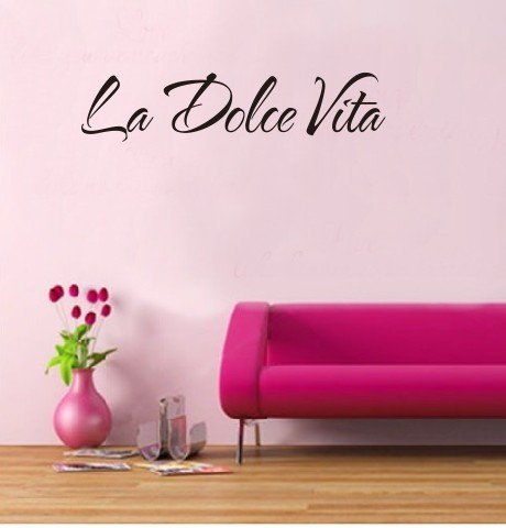 Italian Quote La Dolce Vita Letter Word Room Decor Vinyl Art Wall Sticker