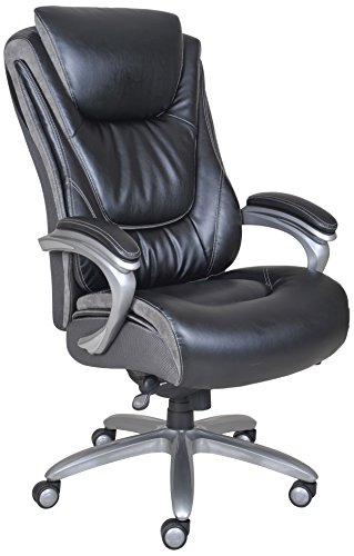 Executive Office Desk High Back Leather Chair Heavy Duty Big And Tall Serta H