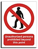 Persons Prohibited Beyond This Point Sign - Adhesive Vinyl - 300x400mm(PR-008-PAM)