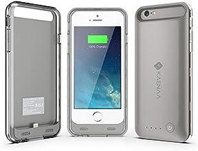 Coque pour Charge de Batterie KaenaaTM iPhone6, Coque de Chargement avec Protection Ultra-mince Etendue, Coque de Chargement de Batterie Iphone 6 (4.7) avec Capot d'Alimentation Amovible/Rechargeable [Convient à toutes les Versions de l'Apple Iphone 6 / Pack de Batterie 2400mah / Support Compatible Ios 8 / Pas de Réduction de Signal/ Puce Certifiée Apple/ Modèle 4.7 Pouces Uniquement] (K-i6-BC-Gris-GB)