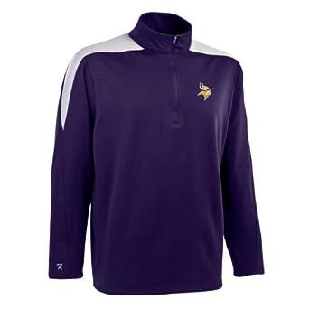 NFL Mens Minnesota Vikings 1 2 Zip Jersey Pullover by Antigua