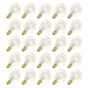 Sival 40120 - G40 Candelabra Screw Base Clear (25 pack) Christmas Light Bulbs