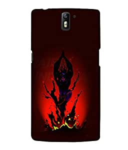 printtech Lord Shiva Tandava Back Case Cover for One Plus One::One Plus1