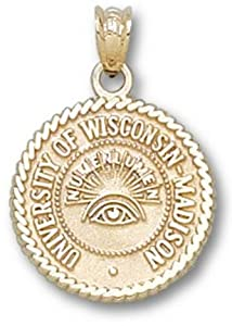 University of Wisconsin Seal - 14K Gold by Logo Art