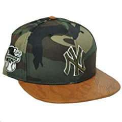 MLB New Era 9Fifty New York Yankees Snake Thru Brim Camo Strapback Hat Cap M L by New Era