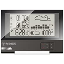 Meade TE636W Slim Line Personal Weather Station with Atomic Clock