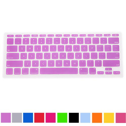 "Hde Ultra Thin Silicone Keyboard Skin For Apple Macbook Air 11"" (Purple)"