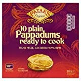 Patak's 10 x Plain Pappadums Ready To Cook 100G