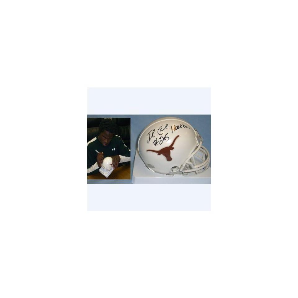 Horns) Signed Autographed Mini Helmet (PSA/DNA COA)