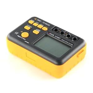 VICTOR VC 60D+ 3 1/2 Multimètre Testeur d'isolement numérique Mégohmmètre MegOhm Compteur de tension courant résistance avec grand écran LCD