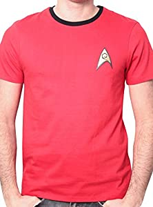 Star Trek Men's Uniforme Round Collar Short Sleeve T-Shirt