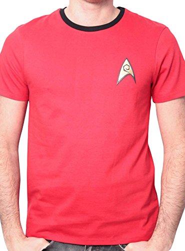 Star Trek - Uniforme, Uniforme da uomo, rosso (rouge), Large (Taglia Produttore: L)