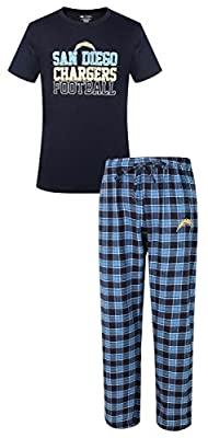 "San Diego Chargers NFL ""Medalist"" Men's T-shirt & Flannel Pajama Pants Sleep Set"
