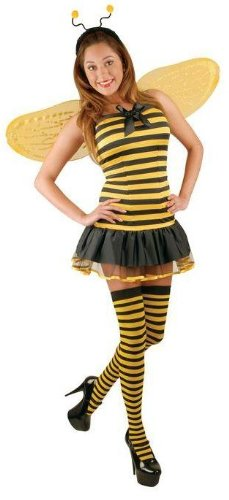 Buzzing Honey Bee Costume with Stockings for Women