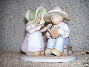 """Circle of Friends Collectible Homco Figurine. """"The Family Hour"""""""