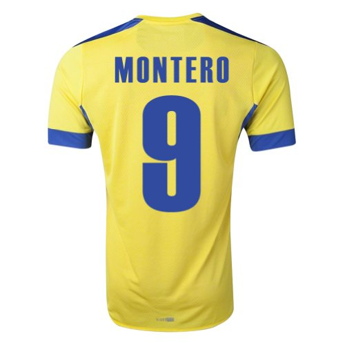 Reviews Montero #9 Ecuador Home Jersey World Cup 2014 (LARGE) for sale