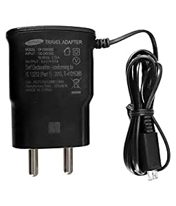 Click Cases Original Samsung AC Power Travel Charger Adapter with Micro USB Cable For Samsung Galaxy A7 - Black