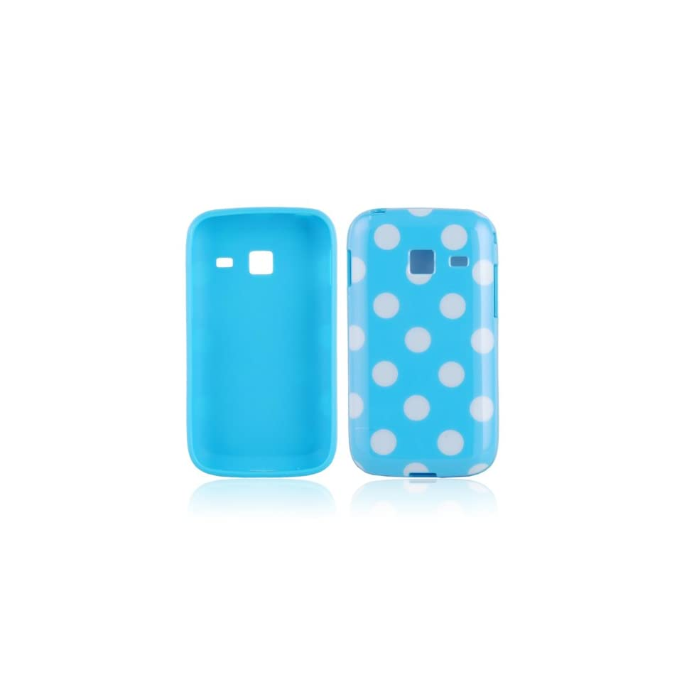 TPU Smart Phone Case, Polka Dot Silicone Case for Samsung S6102 / S6102B Galaxy Y Duos,Blue
