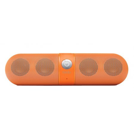 Beats By Dr. Dre Pill Portable Speaker (Neon Orange) Bundle With Beats Usb Cable (Type A To Micro B) And Custom Designed Zorro Sounds Cleaning Cloth